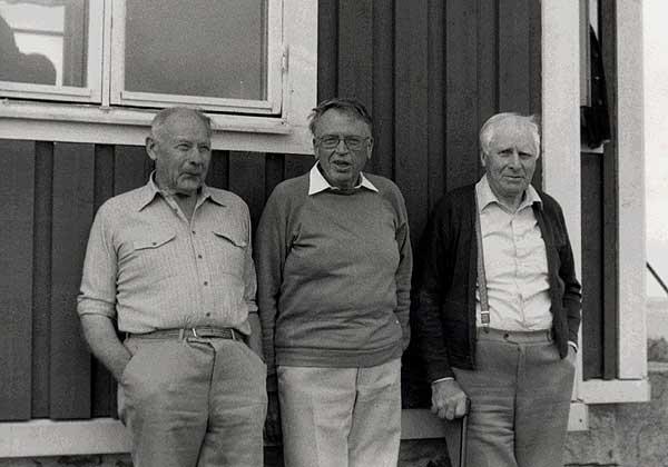 Från vänster: Carl- Gustav Granström, Helge Bjulén, Bror Silfverblad